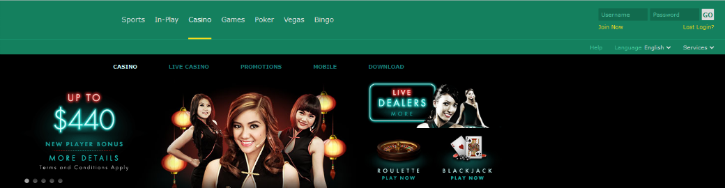 bet365 interface and top 15 casinos for high rollers
