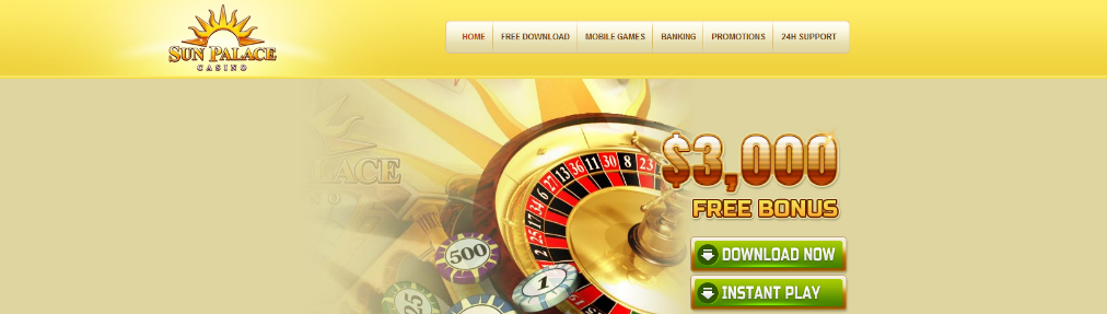 sun palace interface and top 15 casinos for high rollers
