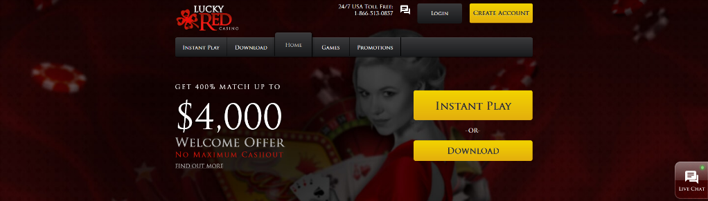 lucky red interface and top 15 casinos for high rollers